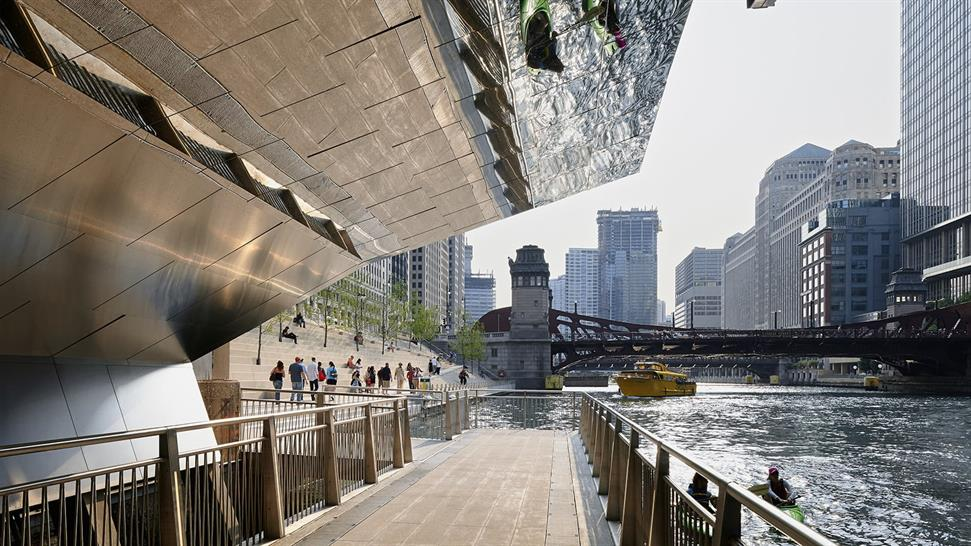 Chicago Riverwalk Ross Barney Architects, Sasaki