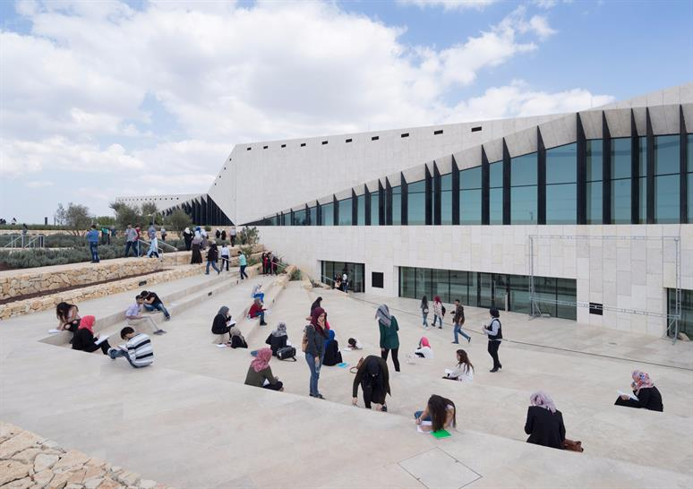 """<a href=""""https://backstage.worldarchitecturenews.com/wanawards/project/the-palestinian-museum/"""" target=""""_blank"""">The Palestinian Museum</a> by Heneghan Peng Architects © Iwan Baan"""