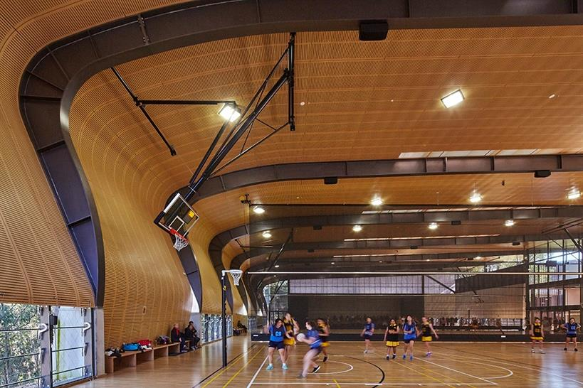"<a href=""https://backstage.worldarchitecturenews.com/wanawards/project/abbotsleigh-multi-purpose-sports-hall"" target=""_blank"">The Judith Poole Sports Hall</a> by Allen Jack+Cottier &copy; Tyrone Branigan"