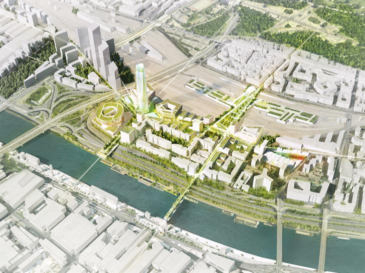 Skidmore Owings and Merrill (SOM), Architects-Urbanists-Landscape Designers Ateliers 2/3/4/, AREP