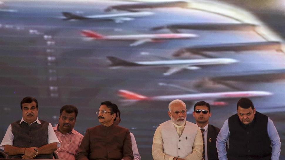 11  caption: Prime Minister Modi at NMIA foundation stone ceremony (Getty Images)