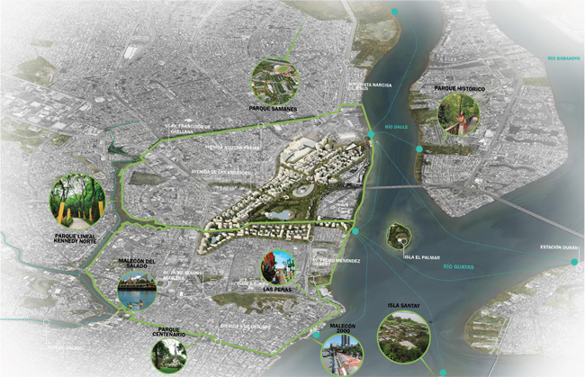 """<a href=""""http://www.wanurbanchallenge.com/project/guayaquil-masterplan/"""" target=""""_blank"""">Guayaquil Masterplan</a> by Perkins Eastman"""