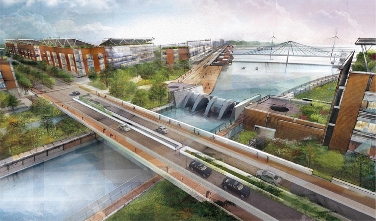 """<a href=""""http://www.wanurbanchallenge.com/project/hydro-urbanism-the-hydroelectric-canal/"""" target=""""_blank"""">Hydro-urbanism: The Hydroelectric Canal</a> by Paul Lukez Architecture"""