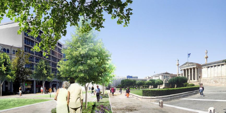 """<a href=""""http://www.wanurbanchallenge.com/project/re-think-athens/"""" target=""""_blank"""">RE-THINK ATHENS</a> by OKRA landschapsarchitecten"""