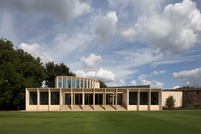 The Sultan Nazrin Shah Centre by Niall McLaughlin Architects: Client, Worcester College: Awards, RIBA South Award 2018 and RIBA South Building of the Year 2018 - sponsored by Artifice Press and RIBA National Award 2018 © Nick Kane