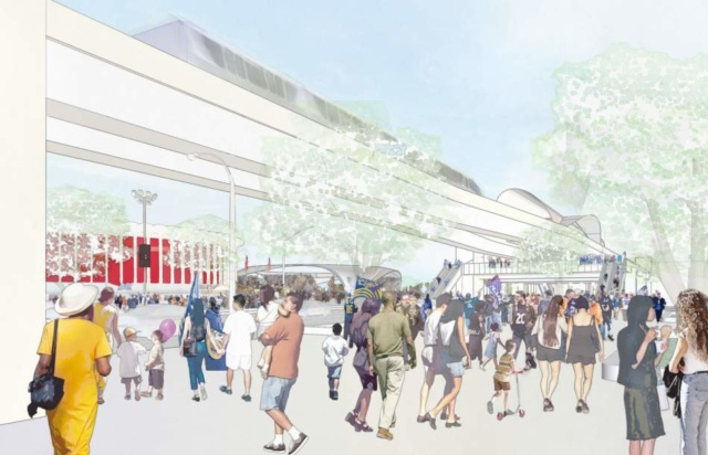 The planned 1.8-mile automated people mover line will connect downtown Inglewood with the City of Champions development (Courtesy City of Inglewood)