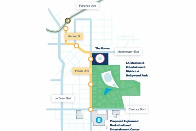 A map of the system (Courtesy City of Inglewood)
