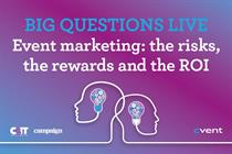 LIVE STREAM TODAY: Event marketing - the risks, the rewards and the ROI