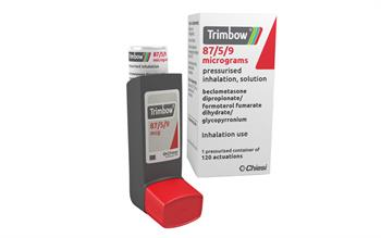 First triple combination inhaler launched for COPD