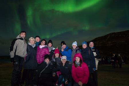 UK fam group enjoying Aurora - taken by Ole Salomonsen