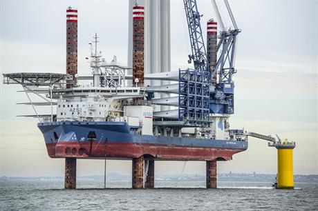 A2Sea installed turbines at Dong Energy's Burbo Bank Extension off the UK