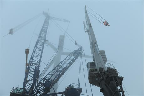 A2Sea's Sea Power at work on the 400MW Anholt offshore wind farm off Denmark