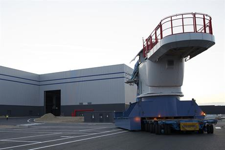 Production base… Alstom inaugurated its turbine factory at St Nazaire last year