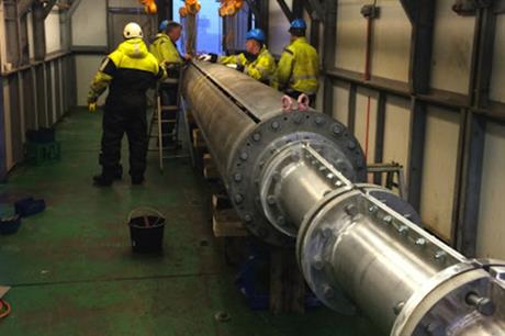 The Anholt cable under repair