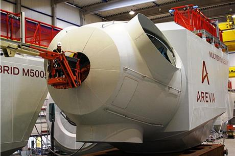 Areva said it is currently installing 120 of its M5000 turbines