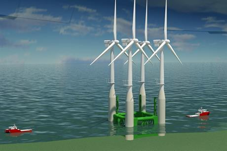 Atkins suggested a reusable transport frame to help install the Hywind turbines