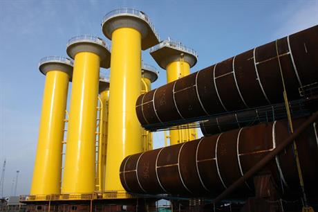 Bladt manufactured the monopiles for the London Array project