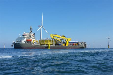Boskalis' Ndurance vessel at West of Duddon Sands