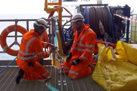 CWind technicians at work at on Lincs offshore project