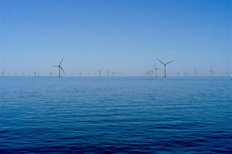 A digital impression of Cape Wind, set to be one of the first US offshore projects