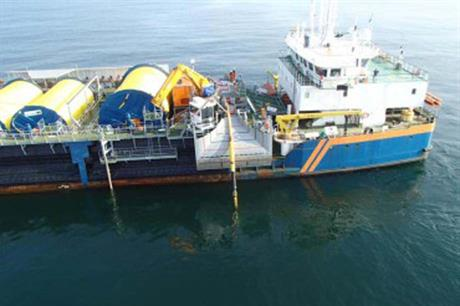 The first of the cables were laid by Van Oord last year