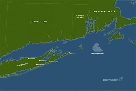 The Deepwater One project is located northeast of Long Island