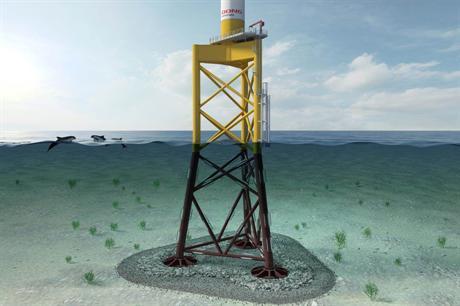 Suction bucket foundations will be installed at Borkum Riffgrund