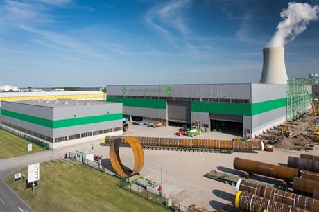 The monopiles will be manufactured at EEW's Rostock facility (Source: EEW SPC)