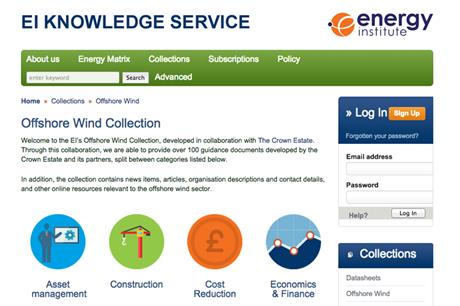 EI and the Crown Estates reports on the offshore industry have been collated into one place