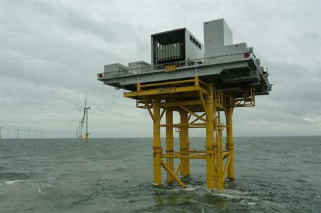 The Humber Gateway substation was installed in October