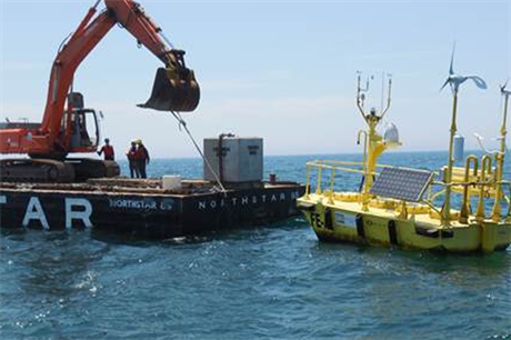 Fishermen's installed a floating wind monitoring system off the New Jersey coast