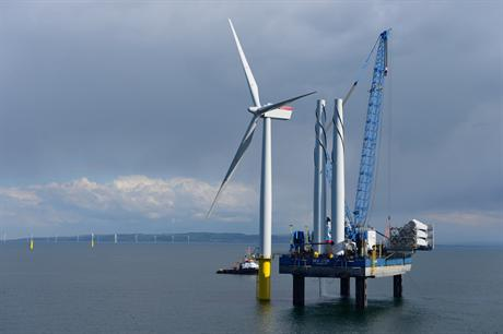 Turbine installation was completed in July