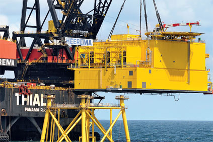 A number of HVDC platforms are installed in the North Sea