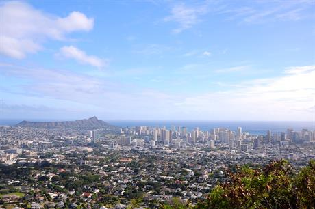 Hawaii state capital Honolulu - one of two offshore zones is located south of the city