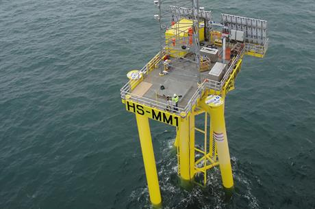 A met mast has been installed at the Hornsea 1 site