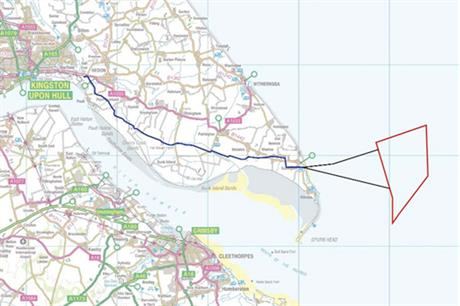 The location of the Humber Gateway project on Egland's east coast
