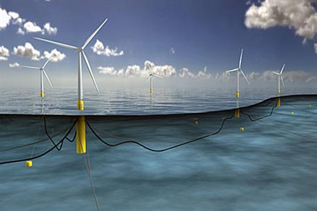 A digital impression of the 30MW floating project