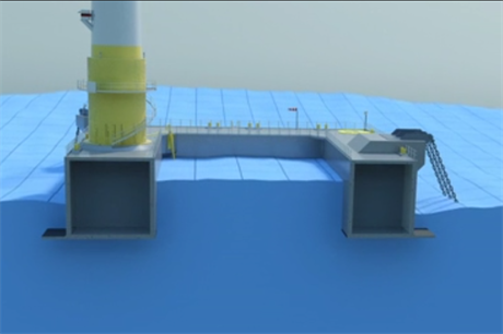A cross section of Ideol's floating foundation design (credit: Ideol)