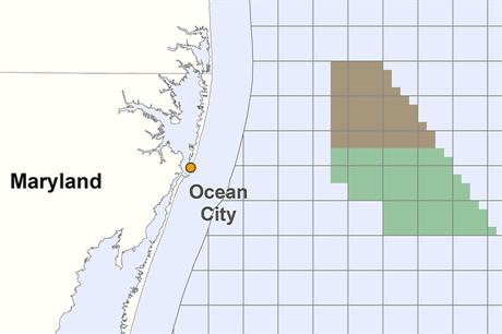 The site off the coast of Maryland will go up for auction on 19 August