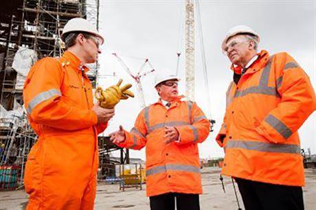 BIS secretary Vince Cable (right) visited OGN's Wallsend facility in July 2012