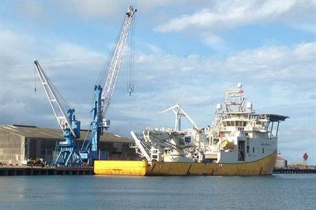 Reef Subsea's Despina vessel at Blyth port