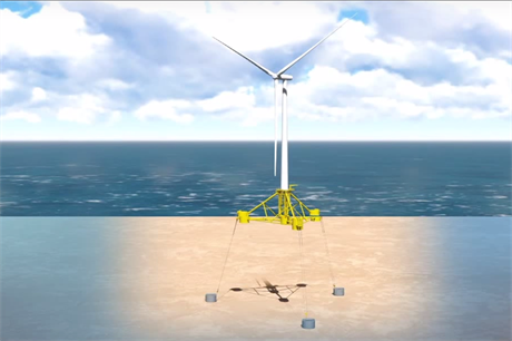 SBM Offshore and IFP Energies Nouvelles designed the platform for EDF EN's Provence Grand Large project