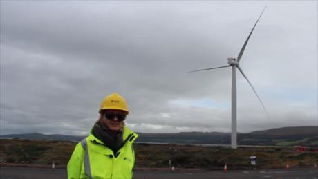 Siemens 6MW turbine at the 24MW Hunterston offshore test site in Scotland