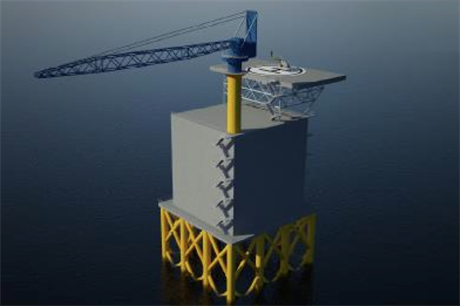 Example of an offshore accommodation platform (Picture credit: RWE npower)
