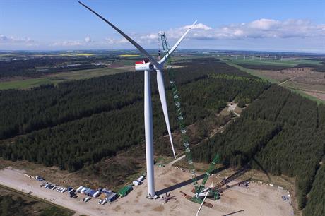 Siemens 7MW offshore turbine installed at the Osterild test site in Denmark