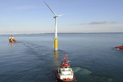 Statoil's existing Hywind floating test platform has been installed off Norway since 2009