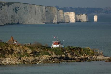 Peveril Point, on the Jurassic Coast, about 13 kilometres from the Navitus Bay site