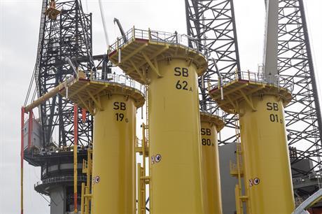 Inter-array cabling between monopiles has begun at Sandbank