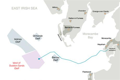 The project is located in the Irish Sea