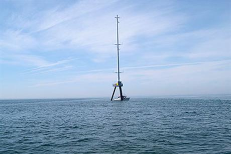 Cape Wind's meteorological mast is the sole installation at the project site